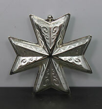Reed & Barton 1977 Sterling Silver Christmas Cross Ornament