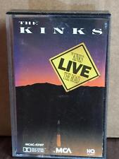 THE KINKS LIVE THE ROAD VINTAGE RARE CASSETTE TAPE TESTED LATE NITE BARGAIN!