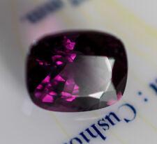 3.40ct Natural Purple Spinel 9.23mm x 7.70mm x 5.77mm Chanthaburi Certificate
