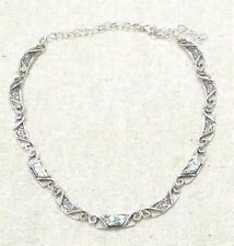Roman Glass Necklace S.Silver 925 Antique Glass 200 B.C Art Designed Ascopa
