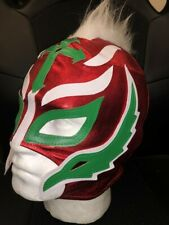 UK REY MYSTERIO RED MOHICAN 2019 COSPLAY WRESTLING MASK FANCY DRESS UP WWE