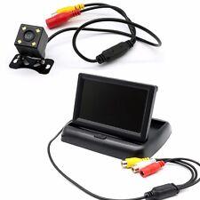"""4.3"""" Car Reversing Parking Camera Rear View Kit LCD Monitor+HD Night Vision UK"""