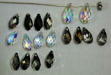 Swarovski #6010 BRIOLETTE TEARDROP Pendants/Beads 13mm, 11mm Unique Colors!