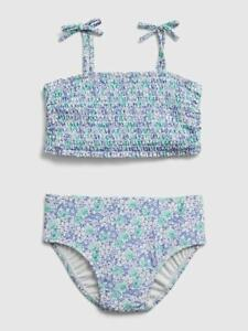 Baby Gap Blue Floral Smocked Bikini Two Piece Swim Suit NWT Various Sizes