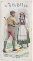 Native Norway Man And Woman Greeting Clothing Fashions 100+ Y/O Trade Ad Card