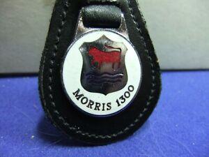 badge motor car keyring MORRIS 1300 advert motoring leather enamel 60s 70s