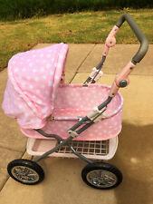 Pottery Barn Kids Baby Doll Carriage Stroller English Pram Pink Polka Dot