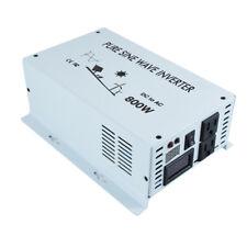 800W Pure Sine Wave Solar Inverter 12V/24V DC to 120V/220V AC Car Power Inverter