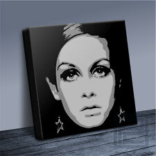 TWIGGY STYLISH 60's FASHION ICON RETRO-MODERN CANVAS PRINT PICTURE Art Williams
