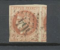 BORDEAUX N°40B, 2c. brun-rouge Oblitéré GC TB, 1 voisin Signé Calves P1468