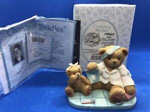 CHERISHED TEDDIES 2003 FIGURINE, DEAN, DENTIST, PATIENT, TOOTH, 109637, NIB