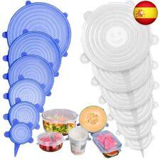 Stone TH Tapas de Silicona Elásticas, 12 Tapas Silicona Ajustables Cocina,