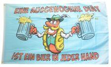 Fahne Bier ist eine ausgewogene Diät Flagge Maß Hissflagge 90x150cm