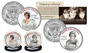 PRINCESS DIANA 20th Anniversary KENNEDY Half Dollar 2-Coin Set - Wedding Edition
