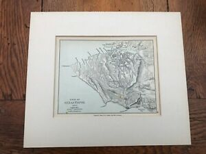 1907 mounted map of the siege of sebastopol 1854 - 5 !