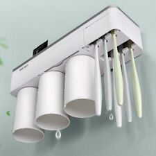 Toothpaste Toothbrush Holder Magnetic Cup Storage Rack Bathroom Wall Mount Kit