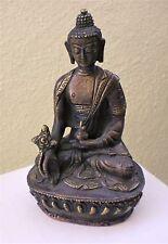 "Slightly Old Bronze Medicine Buddha Statue for Dharma in Nepal, Tibet 6"" High"
