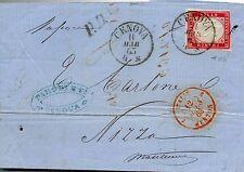 1863  ITALIA  REGNO VITTORIO EMANUELE  II  40c  BOLAFFI / SASSONE