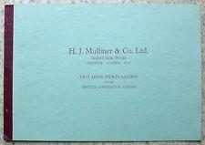 BENTLEY CONTINENTAL HJ MULLINER TWO DOOR SPORTS SALOON Car Design Brochure