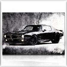 Pontiac Firebird BJ 1970 Auto Oldtimer Bilder Leinwand Abstrakt Wandbild 504A