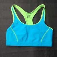 Champion Medium Support Womens Teal Green Sports Bra Size Medium M Duo Dry
