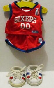 BUILD A BEAR SIXERS NBA BASKETBALL UNIFORM OUTFIT SHOES 4 PC LOT SPORTS CLOTHING