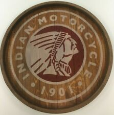 Indian Motorcycle Wood Wall Sign Plaque Round 60 cm Diameter
