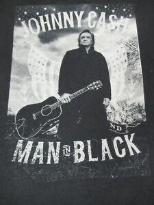 MAN IN BLACK JOHNNY CASH HOLDING GUITAR GRAPHIC MD BLACK T-SHIRT F453