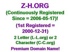 Z-H.ORG Domain Name LLL L-L.org CCC C-C.org 2 3 Letter Character Aged 2006-05-17