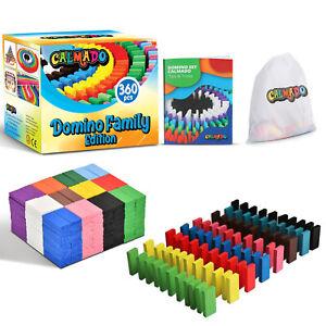 Domino Steine Spiel aus Holz Dominosteine im Set + Tasche + Anleitung - Calmado