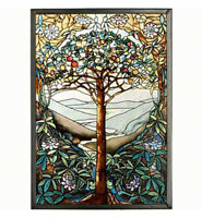 WALL ART - TREE OF LIFE ART GLASS PANEL - SUNCATCHER
