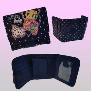 Betty Boop material Women Ladies Wallet Purse Coin Card photo Slot