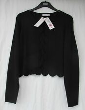Ladies Marks and Spencer per Una Black Glitter Cropped Cardigan Size XL