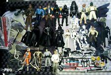 Vintage Star Wars Toys Lot 20X Action Figures Darth Vader Luke Accessories Parts