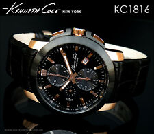 KENNETH COLE MEN'S LUXURY CHRONOGRAPH LEATHER WATCH KC1816