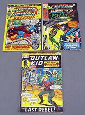 Captain America & Falcon #142 & #152 + Outlaw Kid #13 Marvel Comics Group 1972