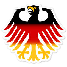 "Germany Bundesadler Coat of Arms bumper sticker 4"" x 4"""