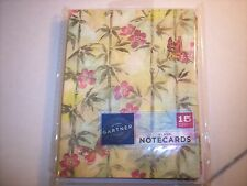 Asian Oriental Influence Bamboo Floral Butterfly Note Cards Stationery Pack 15