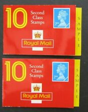 GREAT BRITAIN - 2 x 1990s 'DUMMY SAMPLE' 2nd CLASS BOOKLETS