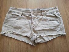 DENIM CO Neutral Colour Lightweight Denim Shorts/Hotpants Size UK10 EU38