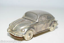 LIGHTER VW VOLKSWAGEN BEETLE KAFER SILVER PLATED EXCELLENT CONDITION