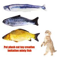 EE_ Artificial Fish Stuffed Catnip Pet Cat Kitten Chewing Scratch Playing Toy Cu