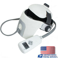 Vibrating Full Head Massager Heat Therapy Helmet Eye  Ache Acupressure Pain