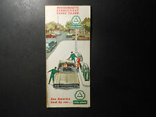 "1964 OIL CO. ROAD MAP, CITIES SERVICE ""MASSACHUSETTS, CONNECTICUT, RHODE ISLAND"""