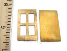 2 Sets 33x20mm Brass Stamping BLANKS DOOR PANE Cut Out Riveting Cold Connections