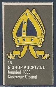 BARTHOLOMEWS 1970'S CREST #015-BISHOP AUCKLAND
