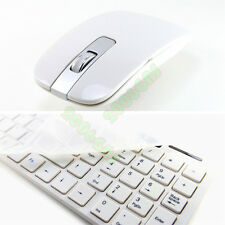 Ultra thin White 2.4G Wireless Keyboard and Optical Mouse Mice Set Kit Combo