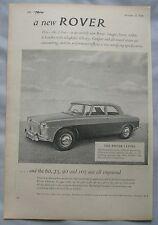 1958 Rover 3-litre Original advert