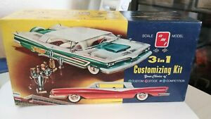 Original Issue AMT '59 Pontiac Hardtop 3 in 1 Model Car 1/25