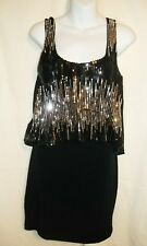 Juniors LOTS OF LOVE SPEECHLESS Black Silver Dress Size M Medium